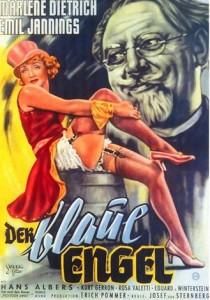 """L'affiche de """"l'Ange Bleu"""""""